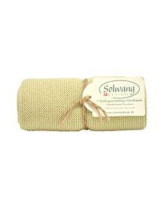 Solwang Design handdoek 32 x 47 cm katoen licht olijf