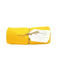 Solwang Design handdoek 32 x 47 cm katoen geel