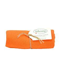 Solwang Design handdoek 32 x 47 cm katoen oranje