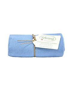 Solwang Design handdoek 32 x 47 cm katoen licht blauw