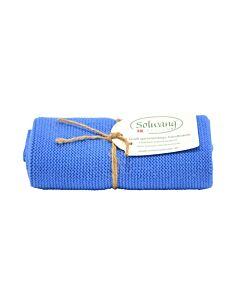 Solwang Design handdoek 32 x 47 cm katoen helder blauw