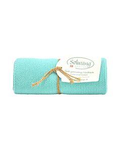 Solwang Design handdoek 32 x 47 cm katoen licht helder aqua