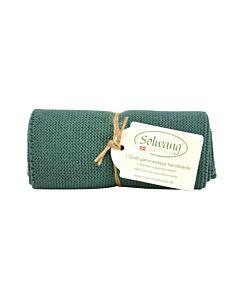 Solwang Design handdoek 32 x 47 cm katoen donker petrol