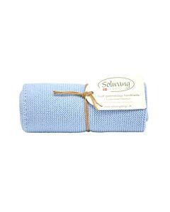 Solwang Design handdoek 32 x 47 cm katoen licht ijsblauw