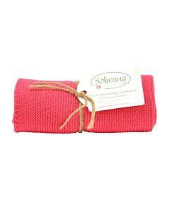 Solwang Design handdoek 32 x 47 cm katoen licht frambooskleurig