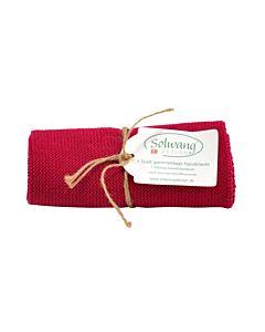 Solwang Design handdoek 32 x 47 cm katoen donker frambooskleurig
