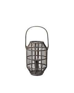 Broste Copenhagen Shape lantaarn ø 24 cm bamboe donkergrijs