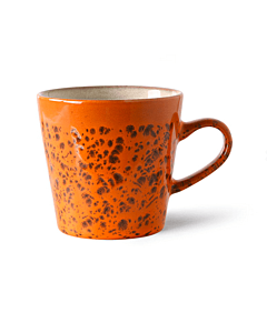 HK Living 70's Magma Americano mok 260 ml aardewerk oranje