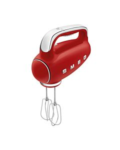 SMEG 50's style handmixer staal rood