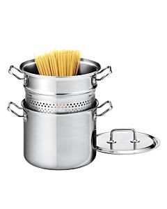 Spring Brigade Premium pastapan met rvs deksel ø 22 cm rvs
