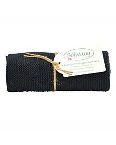 Solwang Design handdoek 32 x 47 cm katoen zwart
