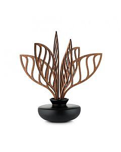 Alessi The Five Seasons geurverdeler Shhh ø 11,5 cm h 25,5 cm porselein/mahonie zwart/bruin