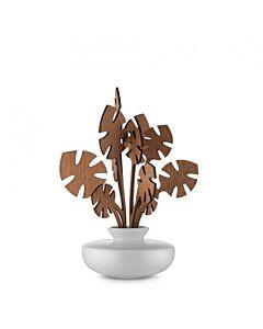 Alessi The Five Seasons geurverdeler Hmm ø 11,5 cm h 24 cm porselein/mahonie wit/bruin