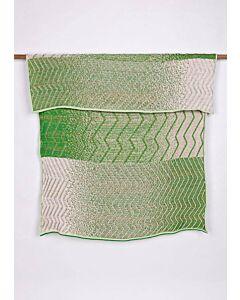 by TextielMuseum plaid Jongeriuslab introduces Simone Post 145 x 119 cm groen-roze