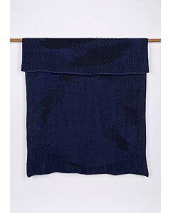 by TextielMuseum plaid Jongeriuslab introduces Studio Truly Truly 148 x 115 cm blauw