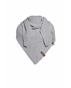 Knit Factory Coco omslagdoek 190 x 85 cm wol acryl lichtgrijs