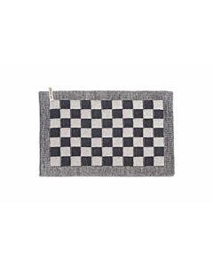 Knit Factory placemat 50 x 30 cm katoen acryl ecru Antraciet