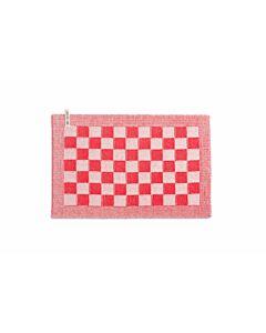 Knit Factory placemat 50 x 30 cm katoen acryl ecru rood