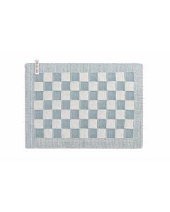 Knit Factory placemat 50 x 30 cm katoen acryl ecru Stone Green