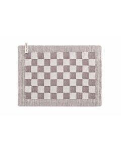 Knit Factory placemat 50 x 30 cm katoen acryl ecru Taupe