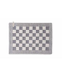 Knit Factory placemat 50 x 30 cm katoen acryl ecru Med Grey