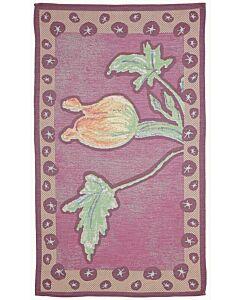 by TextielMuseum theedoek Kiki van Eijk - Botanica Fiore di zucca 87 x 50 cm rood