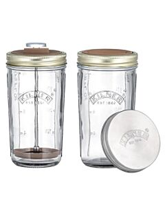 Kilner sojamelkmaker 1 liter glas 2 stuks