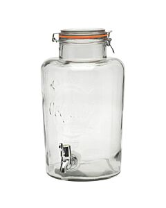 Kilner weckpot met tap 8 liter glas