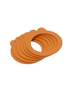 Kilner weckring voor 125 ml weckpot rubber oranje 6 stuks