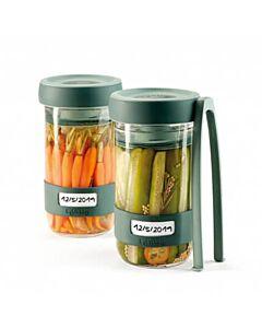 Lékué fermentatieset kunststof transparant/groen 2 stuks