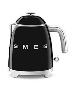 SMEG 50's style mini waterkoker 800 ml staal zwart