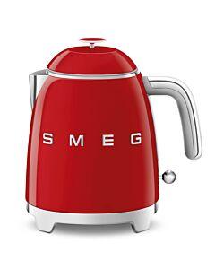SMEG 50's style mini waterkoker 800 ml staal rood