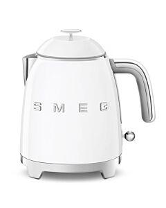 SMEG 50's style mini waterkoker 800 ml staal wit