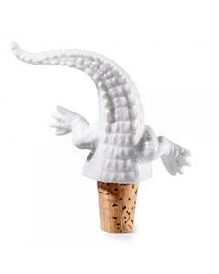 Donkey Coco wijnstop 12 cm porselein wit