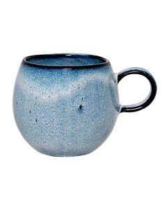 Bloomingville Sandrine kop ø 8,5 cm h 8 cm aardewerk blauw