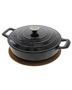 La Cuisine lage braadpan rond 3,5 liter ø 28 cm gietijzer zwart