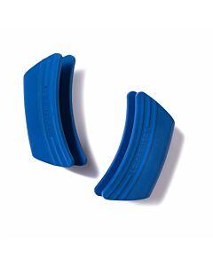 Le Creuset handvatten 12 x 6,5 cm silicone Marseilleblauw 2 stuks