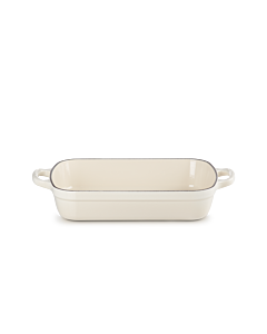 Le Creuset braadslede 29 x 20,5 cm gietijzer meringue