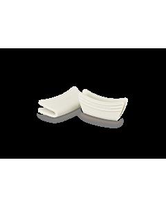 Le Creuset handvatten 12 x 6,5 cm silicone meringue 2 stuks