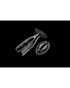 Le Creuset Screwpull GS-300 kurkentrekker met capsulesnijder nikkel zwart