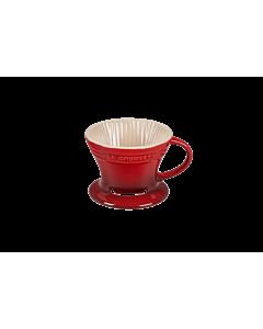 Le Creuset koffiefilter 300 ml aardewerk kersrood