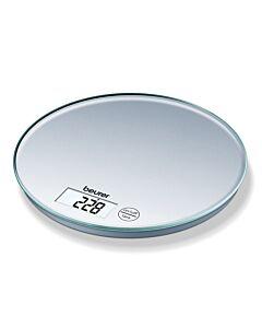 Cristel digitale keukenweegschaal rond 5 kg glas transparant