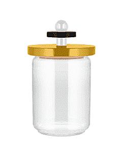 Alessi Twergi ES16/100 1 voorraadpot 1 liter glas hout geel