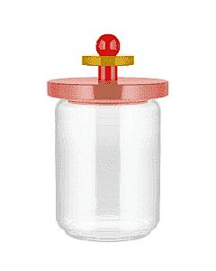 Alessi Twergi ES16/100 2 voorraadpot 1 liter glas hout rood