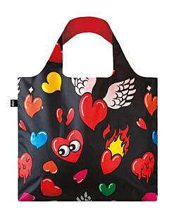 Loqi POP - Hearts opvouwbaar tasje polyester