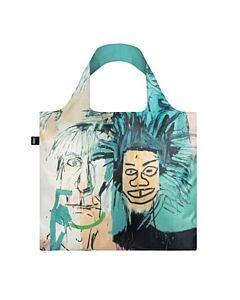 Loqi Jean Michel Basquiat - Warhol opvouwbaar tasje polyester