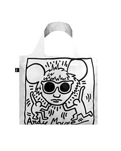 Loqi Keith Haring - Andy Mouse opvouwbaar tasje polyester