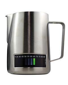 Latte Pro melkkan met temperatuurindicatie 1 liter rvs
