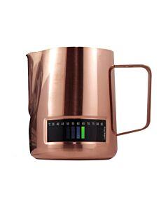 Latte Pro melkkan met temperatuurindicatie 480 ml koperkleurig