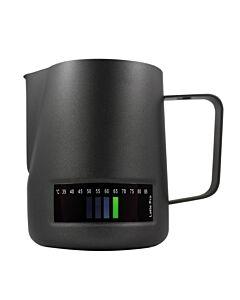 Latte Pro melkkan met temperatuurindicatie 600 ml zwart